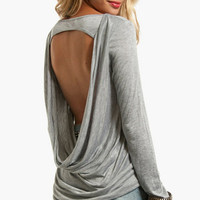 Grey Drape Top