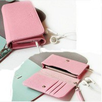 Leather Wallet Flip Case Cover bag skin for iphone 5 5th 4 4S Inner Card Slot
