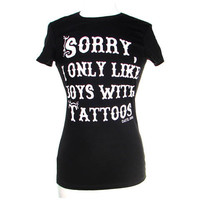 Cartel Ink | I Only Like Boys with Tattoos