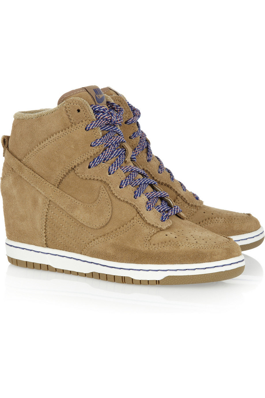nike dunk sky hi suede wedge from net a porter