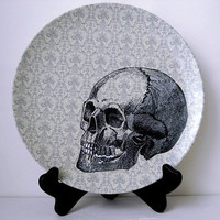 Halloween - Skull Plate - Decorative Plate - Dining  - Dinnerware - Melamine