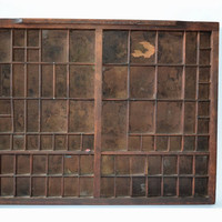 Antique printers letterpress Drawer Trinket Shadow box shelf