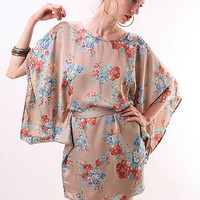 Gloom Silk Kimono Dress - Silk Dresses at Pinkice.com