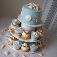 All sizes | Beach Wedding CupCake Towers;