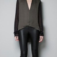 ASYMMETRIC SILK TOP - Shirts - Woman - ZARA United States