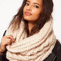 Extra Long Funnel Knit Snood