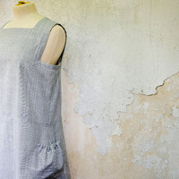 LAST ONE Geometrical Grey Dress with Large Pockets
