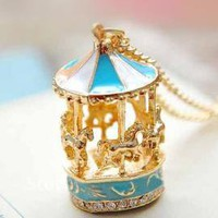 Round & Round Carousel Pendant Necklace | Sincerely Sweet Boutique