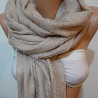 Gorgeous Scarf   Elegant  Scarf  Super quality - Soft - Cotton Pashmina..
