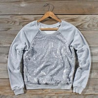 Snow Cabin Sequin Sweatshirt, Sweet Cozy Hoodies &amp; Sweaters