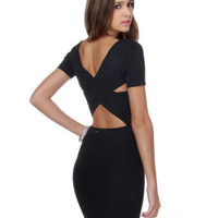 RVCA Phenomena Dress - Black Dress - Body-Con Dress - $64.00