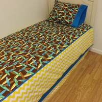 TWIN DUVET and PILLOWCASE----Ready to ship--Surfboard twin size bedding