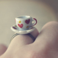 special edition heart print little tea party ring by bellehibou