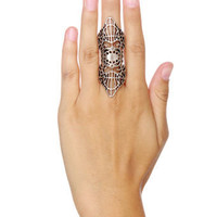 Silver Ring - Double Ring - Webbed Ring - Filigree Ring - $17.00