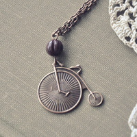 autumn bicycle necklace by bellehibou on Etsy