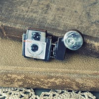 vintage camera brooch by bellehibou on Etsy