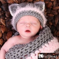 Newborn Kitty Cocoon Set With Hat, .. on Luulla