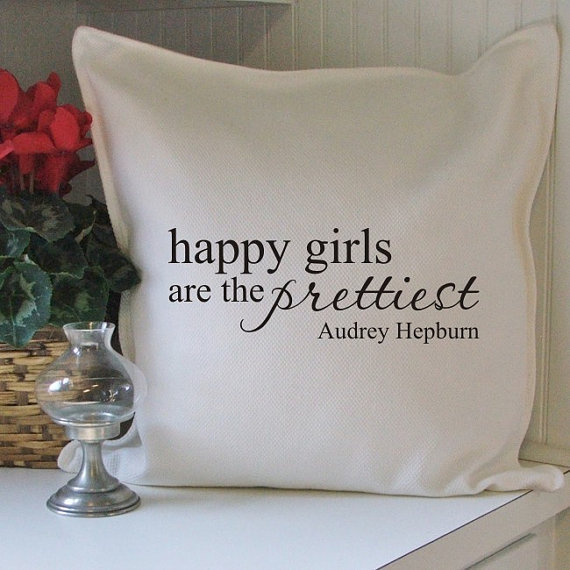 happy girls pillow cover by elizajay on Etsy