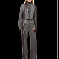 short jacket, pearlized leather fabric patchwork   Jackets   Online Boutique   Akris