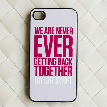 Taylor Swift , Taylor Swift Case ,  iphone plastic case for iphone 4 , iphone 4s case , iphone 5 case , Gray Background with Text