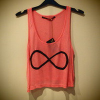 COSMIC RAY clothing  &#x27;INFINITY&#x27; Pink Crop Top