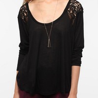 Staring at Stars Crochet Inset Top