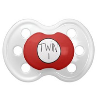 Twin 1 pacifier from Zazzle.com