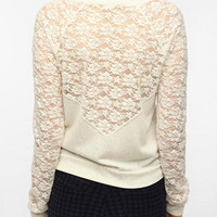 Kimchi Blue Copenhagen Lace Inset Sweatshirt