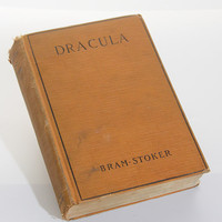 Dracula, Book, Vintage, Bram Stoker, 1897, Fiction