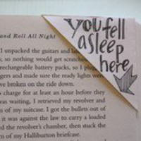 do it yourself.  / bookmark from old envelope