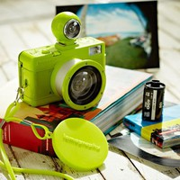 Fisheye Lomography Lime Green Stripe Camera