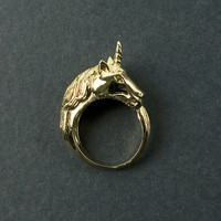 Unicorn Gold Ring