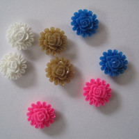 Resin Cabochon Flowers