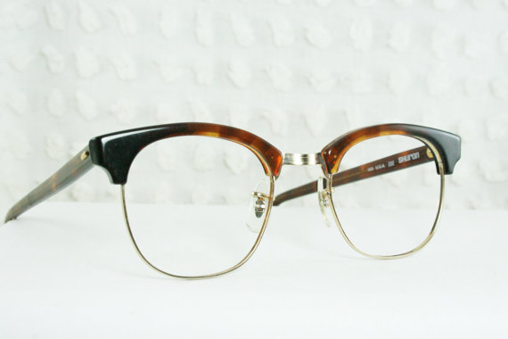 60s mens glasses 1960 s browline from thayereyewear on etsy