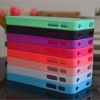 Cute 8X Colorful Bumper Back High Clear Hard Cover Case for iPhone 4 4S 4GS