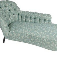 Kathryn Ireland Shop — 19th-C. Chaise w/ KMI Greta Fabric
