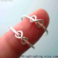 925 Infinity rings - Set of 2, Sterling silver ring jewelry, Promise rings, for girlfriend  090612