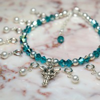 Custom December Birthstone Tooth Fairy Bracelet Ensemble. Made To Order.