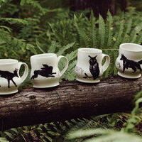 thread — woodland creature mugs