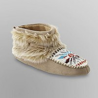 Bongo- -Junior's Moccasin Bootie Slippers-Shoes-Womens-Slippers