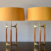 Vintage Lightolier Lamp Pair