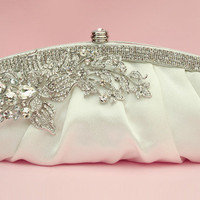 Ultraluxe Crystal Encrusted Satin Clutch in by spoiledpretty