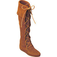 Minnetonka Knee High Fringe Boot