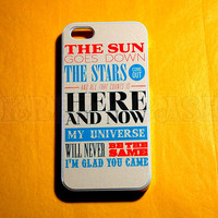 iphone 4 Case, iPhone 4s case THE sun goes down the star comes out Phone 4 Cases, Case for iPhone 4 4s