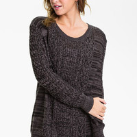 Rubbish Cable Sweater (Juniors) | Nordstrom