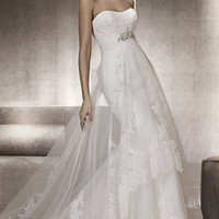 Sleeveless Tulle Wedding Dress