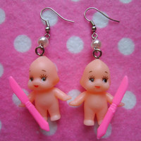 Creepy Cute Kewpie Devil Doll Earrings