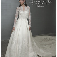 SPECIAL ORDER***Mori Lee Princess Kate Middleton Inspired Lace &amp; Taffeta Wedding Gown - 0 to 18 - Unique Vintage - Bridesmaid &amp; Wedding Dresses