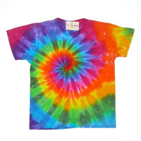 Tie Dye Shirt/ Child Medium/ Classic Rainbow Spiral