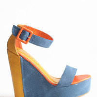 Stomping Grounds Colorblocked Wedges - $32.50: ThreadSence, Women&#x27;s Indie &amp; Bohemian Clothing, Dresses, &amp; Accessories